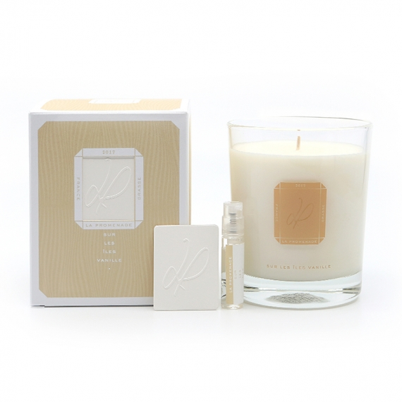 scented candle vanilla - made in France