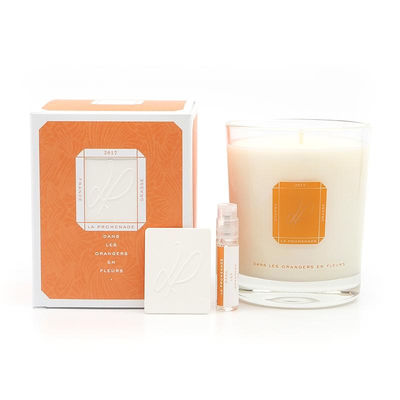 bougie parfumée made in france fleur d'orangers en cire végétale