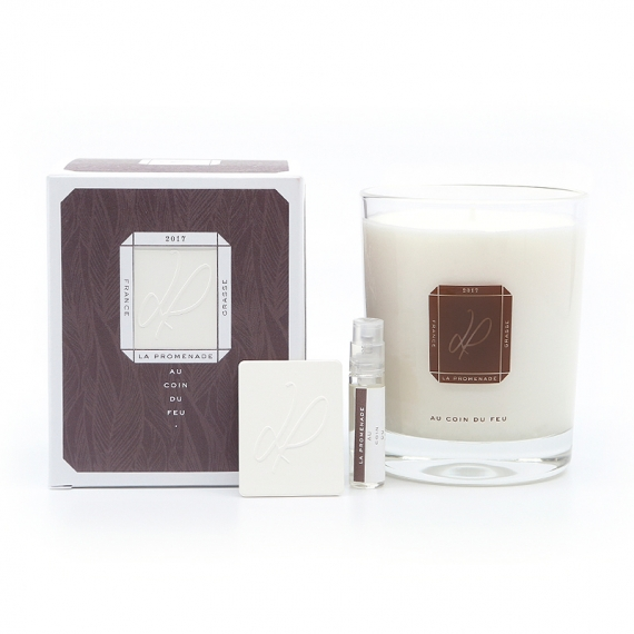 scented candle fireplace - made in France