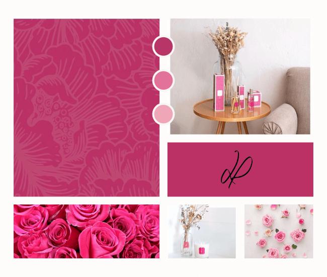 La couleur Rose, symbol de notre senteurs parfumée Dans les Roses d'Orient  La Promenade