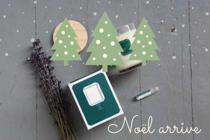 Bougie de Noël parfumée la bougie Sous les pins