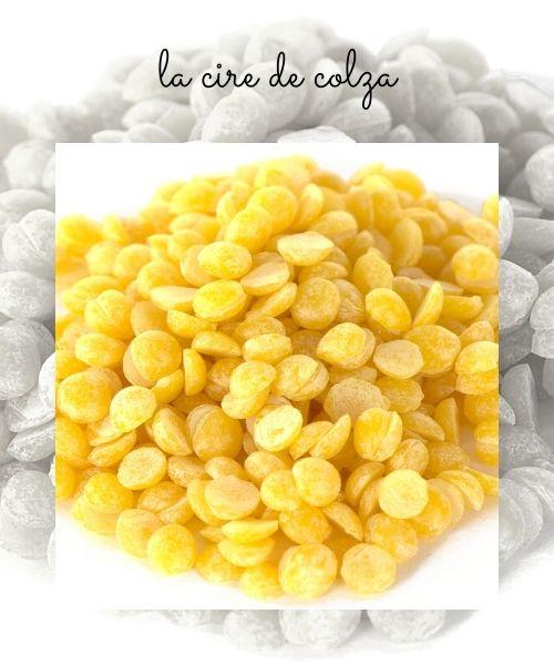 La cire de colza utilisée dans la fabrication des bougies parfumées comme cire végétale