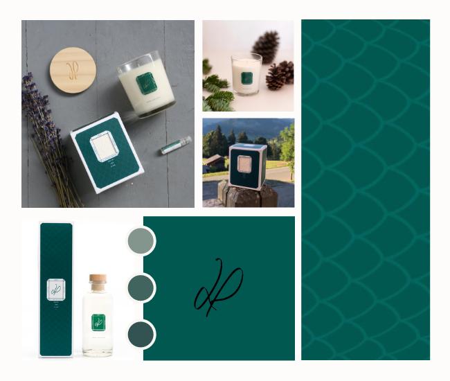 La couleur vert sapin, symbole de notre senteur Sous les pins | La Promenade Parfum d'interieur
