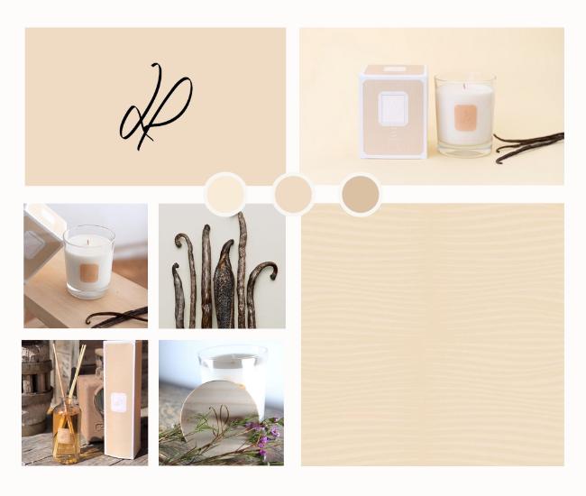 La couleur crème, symbole de notre senteur Sur les iles Vanille | La Promenade parfum d'intérieur
