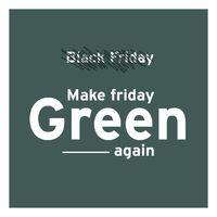 Le Black Friday crée une frénésie qui n'est pas propice à une consommation raisonnable ❎  6 français sur 10 considèrent le Black Friday comme une incitation à acheter des produits dont ils n'ont pas vraiment besoin 🤷  Surconsommer a un impact fort sur l'environnement.   En soutenant MAKE FRIDAY GREEN AGAIN, La Promenade vous propose une alternative au Black Friday pour consommer de manière plus saine !♻️  Prenons le temps d'analyser nos réels besoins, faisons le tri dans nos placards, réparons, revendons, recyclons systématiquement ce qui n'est plus utilisable et consommons ce qui est nécessaire et sans excès ✨  #lapromenade #green #makefridaygreenagain #upcycling #recycler #vert